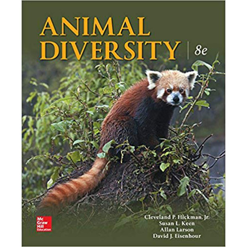 Animal Diversity (8th Edition) Cleveland Hickman Jr., Susan Keen, Allan Larson and David Eisenhour  | 9781259932557