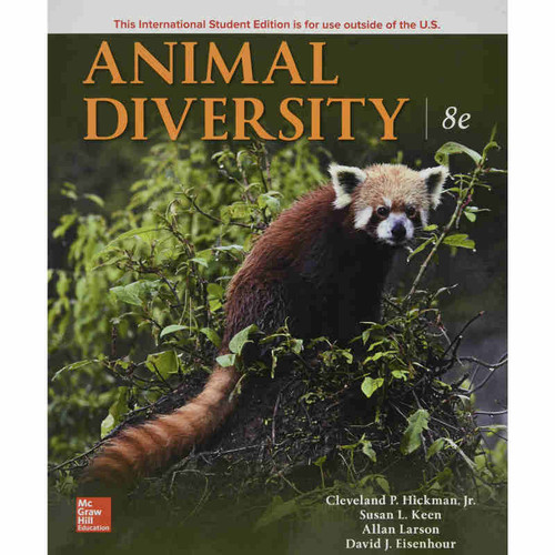 Animal Diversity (8th Edition) Cleveland Hickman Jr., Susan Keen, Allan Larson and David Eisenhour  | 9781260084276