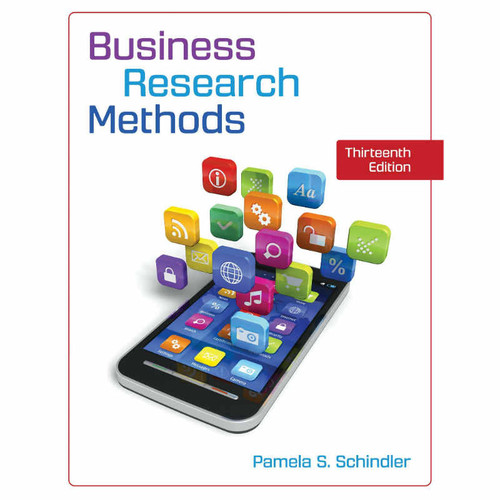 Business Research Methods (13th Edition) Pamela S. Schindler   9781260210095
