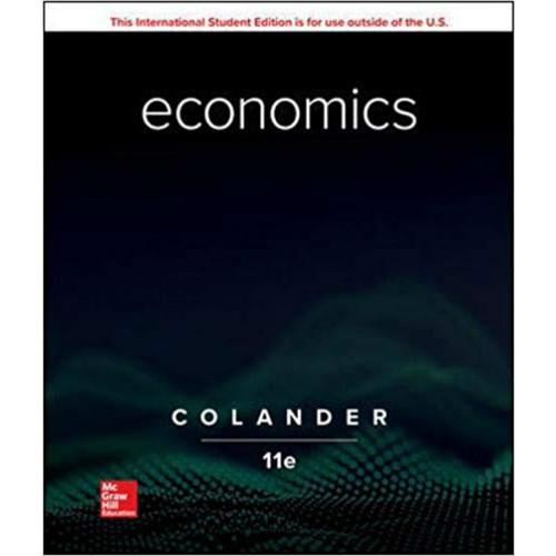 Economics (11th Edition) David Colander   9781260566086