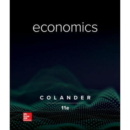 Economics (11th Edition) David Colander | 9781260506945