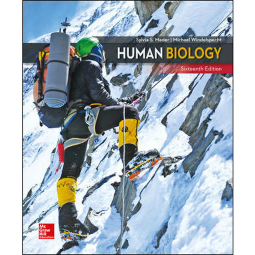 Human Biology (16th Edition) Sylvia Mader and Michael Windelspecht | 9781260482690