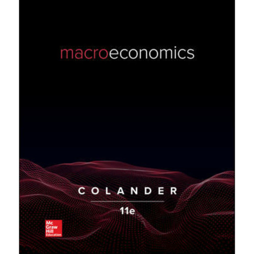 Macroeconomics (11th Edition) David Colander | 9781260507058