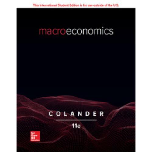 Macroeconomics (11th Edition) David Colander | 9781260566598