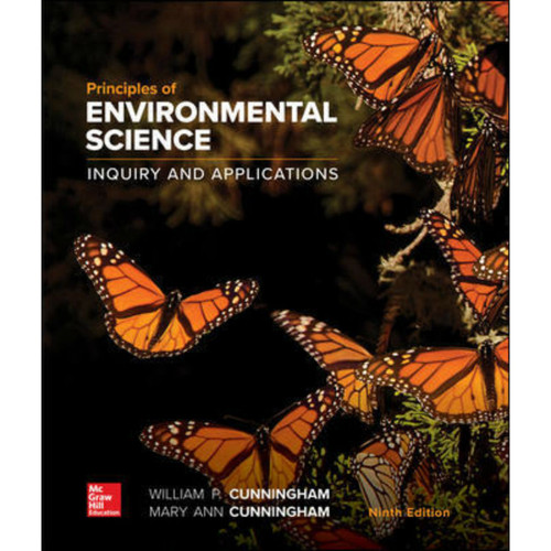 Principles of Environmental Science (9th Edition) William Cunningham and Mary Cunningham   9781260219715