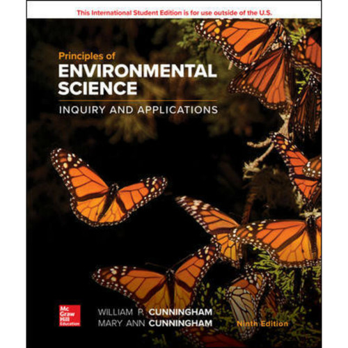 Principles of Environmental Science (9th Edition) William Cunningham and Mary Cunningham   9781260566024