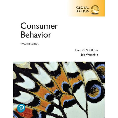 Consumer Behavior (12th Edition) Leon G. Schiffman, Joseph L. Wisenblit | 9781292269245