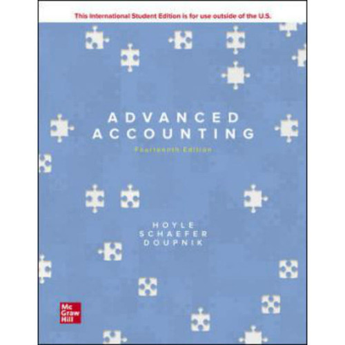 Advanced Accounting (14th Edition) Joe Ben Hoyle, Thomas Schaefer and Timothy Doupnik   9781260575910