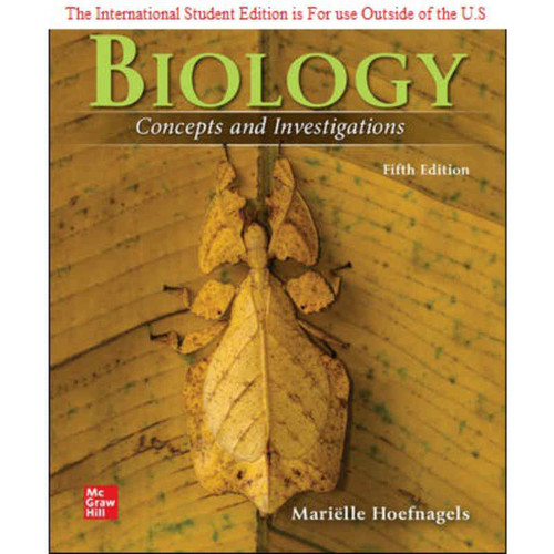 Biology: Concepts and Investigations (5th Edition) Marielle Hoefnagels   9781260575880