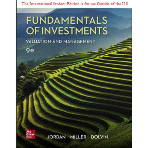 ISE Fundamentals of Investments: Valuation and Management (9th Edition) Bradford Jordan | 9781260570335
