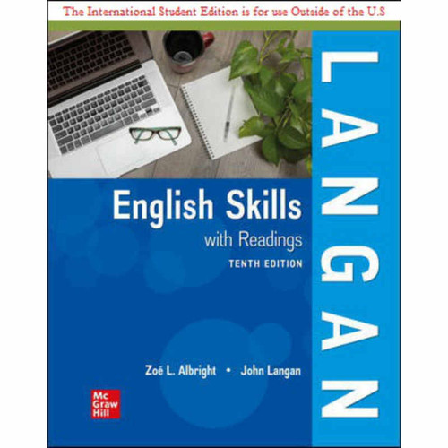ISE English Skills with Readings (10th Edition) John Langan and Zoe Albright   9781260570403