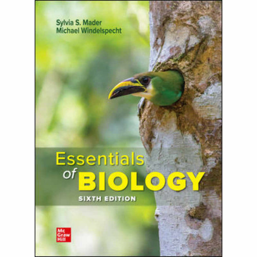 Essentials of Biology (6th Edition) Sylvia Mader and Michael Windelspecht   9781260780017