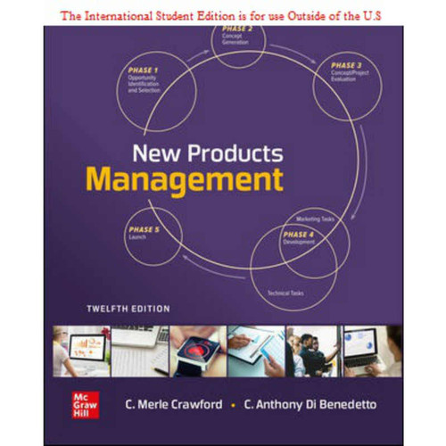 ISE New Products Management (12th Edition) C. Merle Crawford and C. Anthony Di Benedetto | 9781260575088