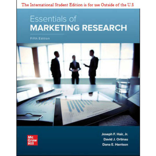 ISE Essentials of Marketing Research (5th Edition) Joseph Hair and David Ortinau and Dana E. Harrison   9781260575781