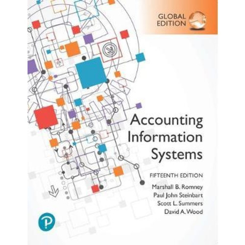 Accounting Information Systems (15th Edition) Marshall B. Romney, Paul J. Steinbart | 9781292353364