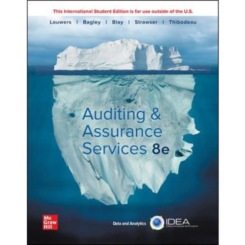 ISE Auditing & Assurance Services (8th Edition) Timothy Louwers | 9781260570519