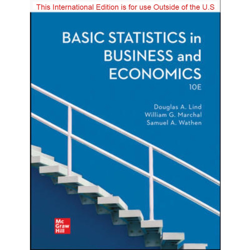 ISE Basic Statistics in Business and Economics (10th Edition) Douglas Lind | 9781260597578
