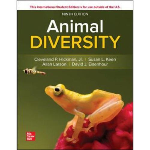 ISE Animal Diversity (9th Edition) Cleveland Hickman, Susan Keen, Allan Larson and David Eisenhour | 9781260575859