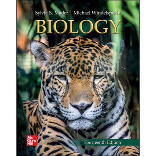 Biology (14th Edition) Sylvia Mader and Michael Windelspecht   9781260710878