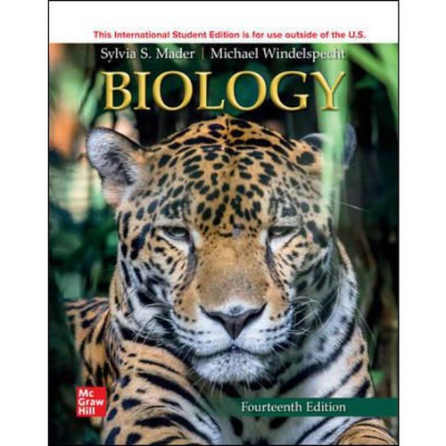 ISE Biology (14th Edition) Sylvia Mader and Michael Windelspecht   9781260597622