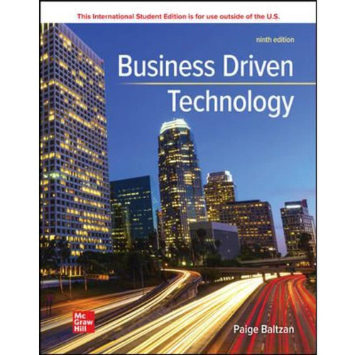 ISE Business Driven Technology (9th Edition) Paige Baltzan   9781265361686
