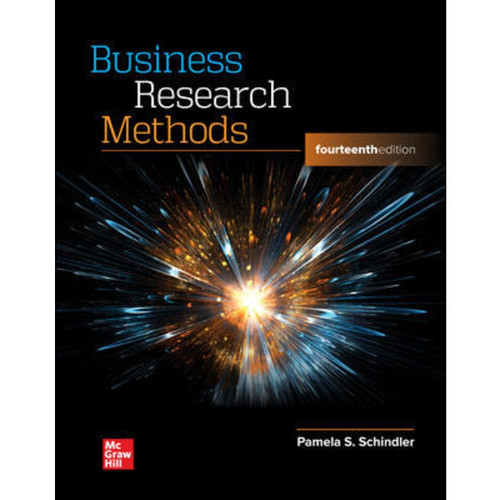 Business Research Methods (14th Edition) Pamela Schindler LL   9781264098521