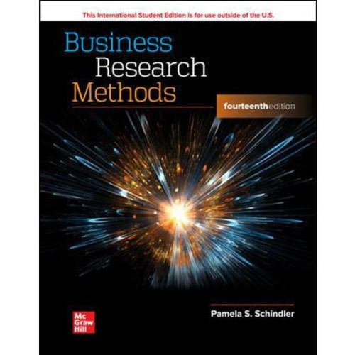 ISE Business Research Methods (14th Edition) Pamela Schindler   9781264704651