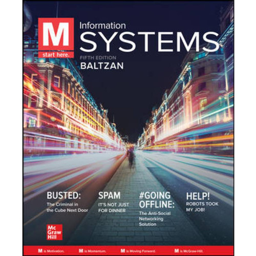 M: Information Systems (6th Edition) Paige Baltzan   9781260727821