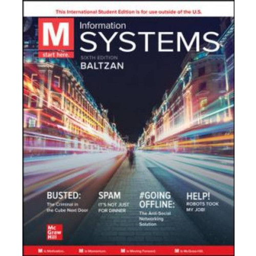 ISE M: Information Systems (6th Edition) Paige Baltzan   9781265373931