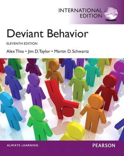 Deviant Behavior (11th Edition) Thio IE