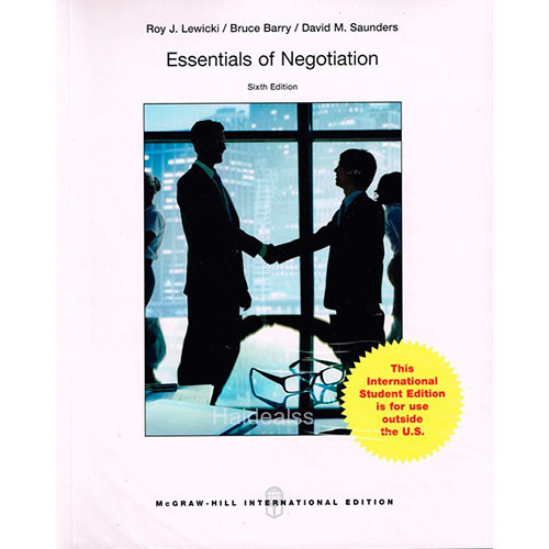 Essentials of Negotiation (6th Edition) Lewicki IE