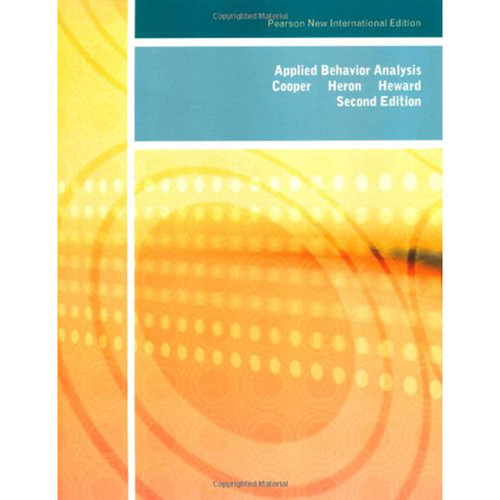 Applied Behavior Analysis (2nd Edition) Cooper