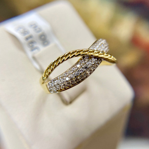Fashion Cuban Link Ring Zirconia 0.69tcw