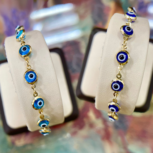 Evil Eye Gold Bracelet 3.7mm