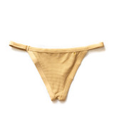 The Gold Mika bottoms are a Brazilian cut inspired bottoms with a low waist profile.