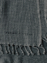 Waffle Beach Towel - Vintage Black