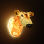 When turned on, it sheds light into your room, giving this Jersey Cow an amazing glow!