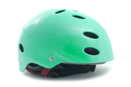 Turquoise Bike Helmet