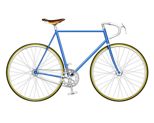 Navy Single Speed Bike