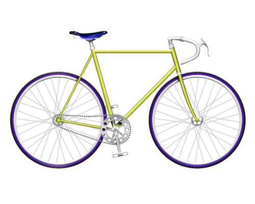 Yellow Single Speed Bike