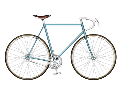 Baby Blue Single Speed Bike - lightweight unisex bike, mountain / road hybrid very long product name for testing display on multiple lines on the product grid pages