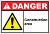 Danger Sign construction area