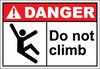 Danger Sign do not climb