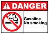 Danger Sign gasoline no smoking