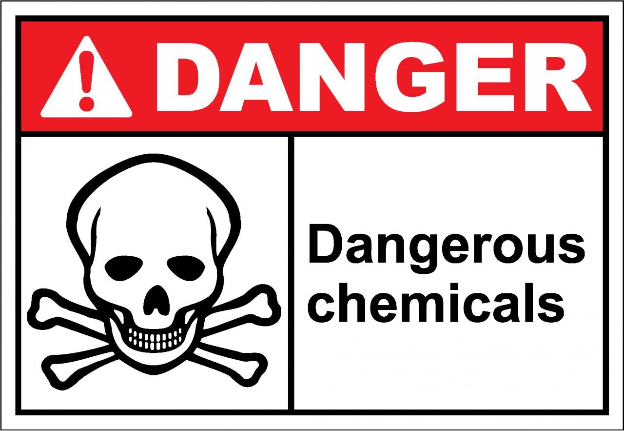 Danger Sign dangerous chemicals