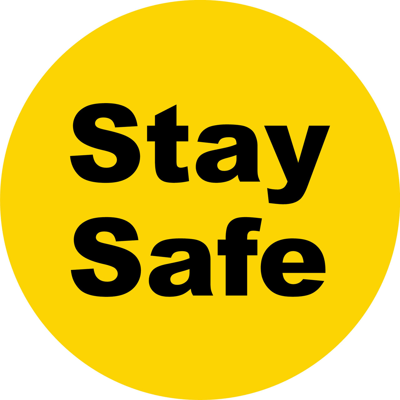 Covid 19 Stay Safe Floor Decal Sticker