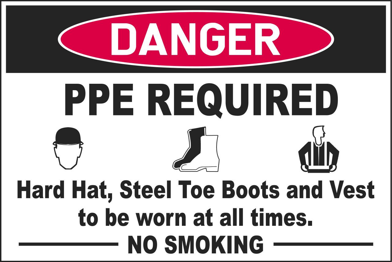 PPE-no smoking sign
