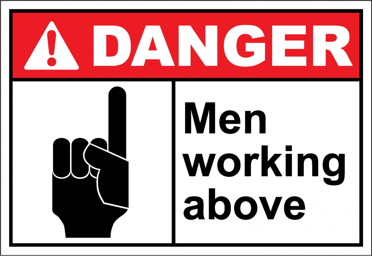 Danger Sign men working above