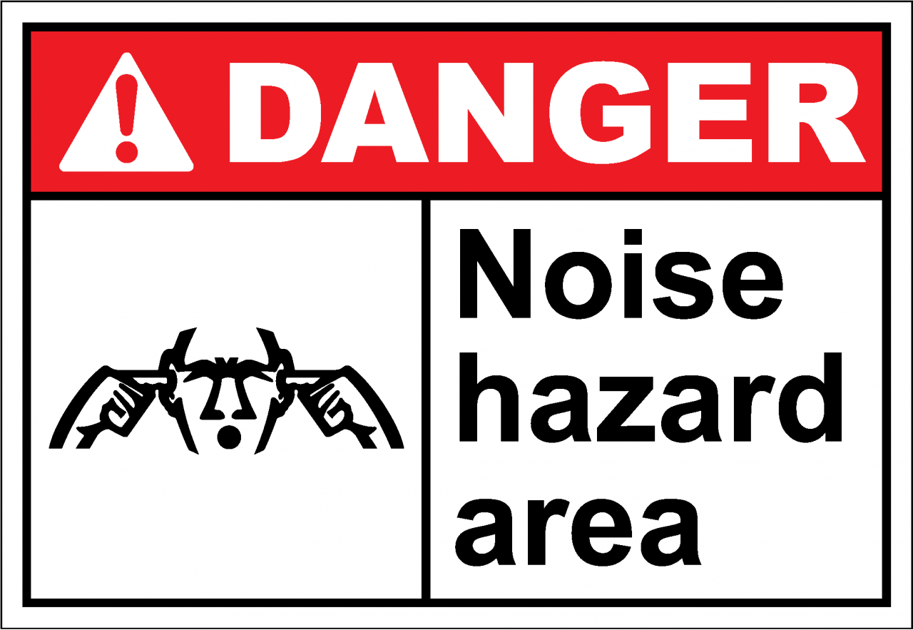 Danger Sign noise hazard area