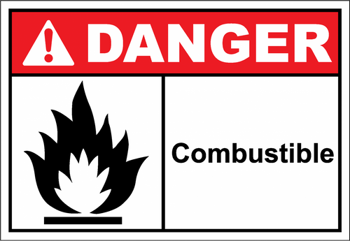 Danger Sign combustible